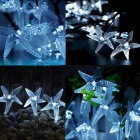 Joyshine solar 50-LED cool starfish branco string luz para o Natal