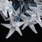 Joyshine Solar 50-LED Starfish String Light RGB Light for Christmas