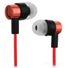 Universal HIFI 3.5mm Super Bass Sound In-ear Earphone - Red