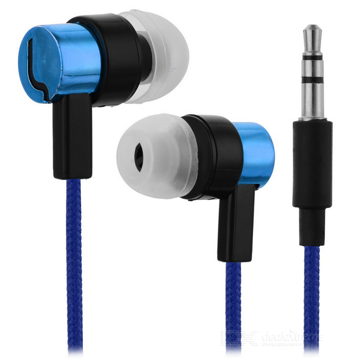 Universal HIFI 3.5mm Super Bass Sound In-ear Earphone - Blue