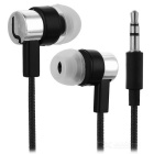 Universal HIFI 3.5mm Super Bass Sound In-ear Earphone - Silver
