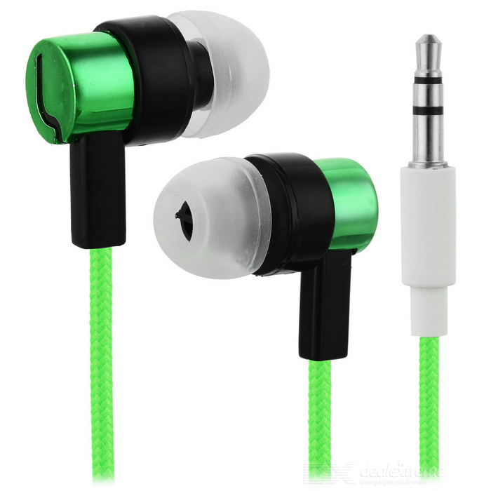 Universal HIFI 3.5mm Super Bass Sound In-ear Earphone - Green