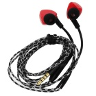Sweatproof IPX5 3.5mm Stereo Bass In-ear Earphone w/ Mic - Black + Red