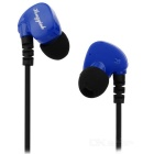 Sweatproof IPX5 3.5mm Stereo Bass In-ear Headset w/ Mic - Black + Blue