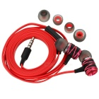 Universal HIFI Super Bass 3.5mm In-ear Earphone w/ Mic - Black + Red
