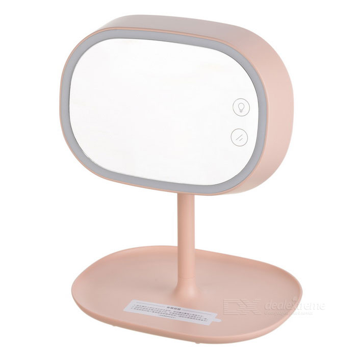 Fashion LED Make-up Mirror Desktop / Bed Lamp - Pink