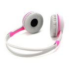 DM-2760 Colorful Headband Headset - Pink + Grey