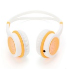DM-2760 Colorful Headband Headset - Orange + White