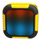 LED Lights Outdoor Mini Bluetooth Speaker - Yellow + Black