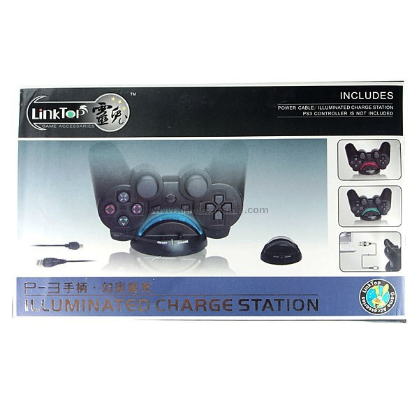 Blue Light Charging Cradle for PS3 Controllers