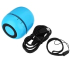 Portable Mini Bluetooth Wireless V3.0 + EDR Speaker w / Mic - Azul