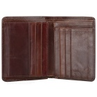 BLCR 16066-2 Slim Durable Foldable Leather Men Wallet - Coffee