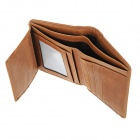 BLCR 16066-2 Slim Durable Foldable Leather Men Wallet - Yellow