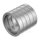 25 * 5mm Magic Trick Prop Magnetic Ring - Silver (5 PCS)