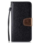 Protective Flip Open PU Leather Case for IPHONE 7 Plus - Black