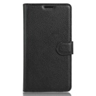 PU Leather Wallet Cases Cover w/ Card Slots for Samsung A8 - Black
