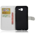 PU Leather Wallet Cases Cover w/ Card Slots for Samsung A8 - White