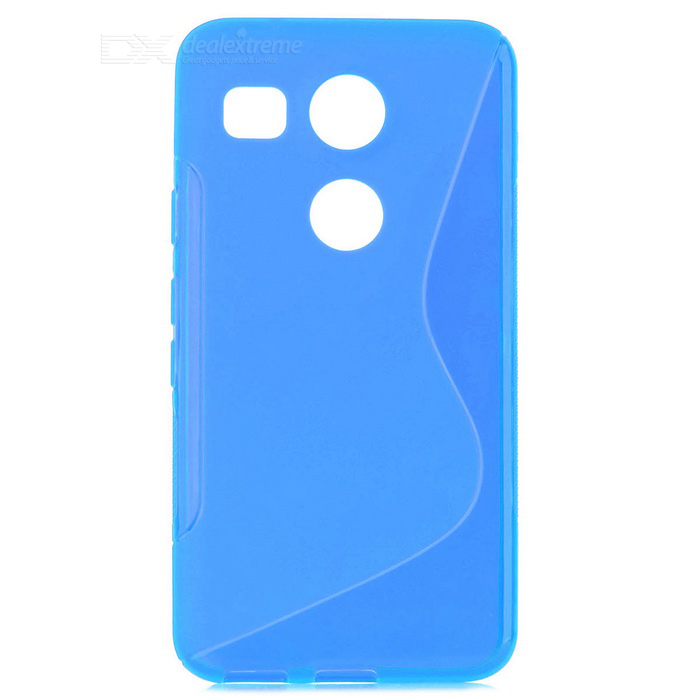 TPU Back Case for Google Nexus 5X / LG Nexus 5X - Translucent Blue