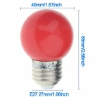 YouOKLight E27 3W 6-LED 2835 SMD Red Light Bulb (AC 220V)