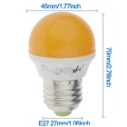 YouOKLight E27 3W 6-LED 2835 SMD Yellow Light Bulb (AC 220V)