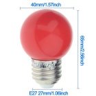 YouOKLight YK0055 E27 3W F5 DIP 6-LED Red Light Lamp Bulb (AC 220V)
