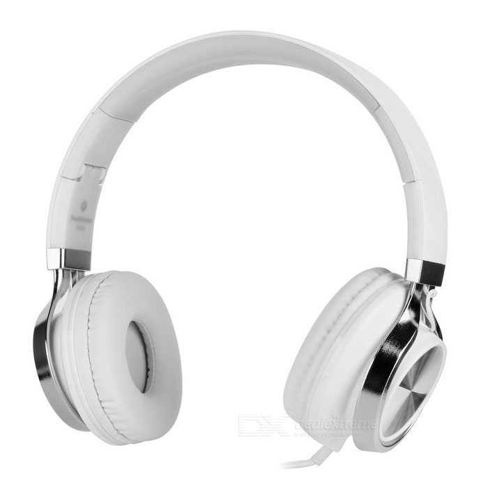 SOUND INTONE HD200 Plegable Super Bass Auriculares con cable - Blanco