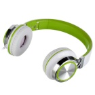 SOUND INTONE HD200 Foldable Super Bass Wired Headphone - White + Green