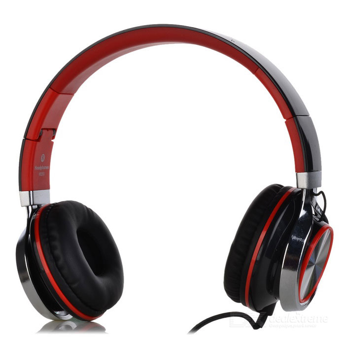 SOUND INTONE HD200 Foldable Super Bass Wired Headphone - Black + Red