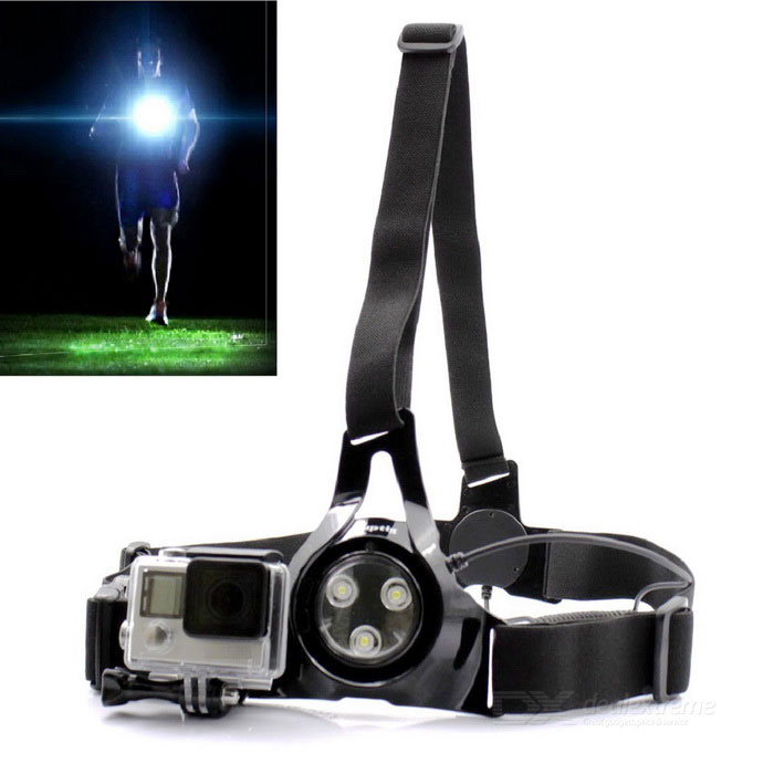 Sports Runing Light, Chest Strap for Gopro Hero 3 3+ 4 5 Session