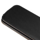 New Style Split Leather Flip Case Hard Cover for MOTO G4 - Black