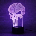 3D Stereoscopic Punisher LED Colorful Gradient Table Lamp -Transparent