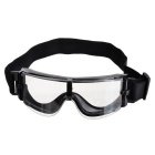 Outdoor Sports UV400 Protection Glasses Goggles - Transparent + Black