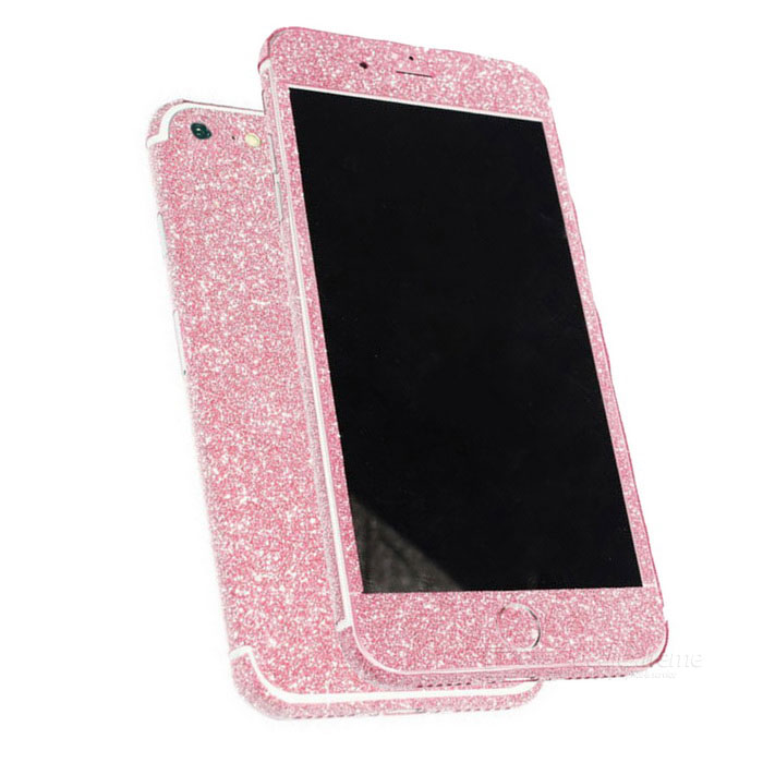 Glitter Shiny Back + Side + Home Stickers for IPHONE 7 - Light PinkStickers<br>Form  ColorLight PinkScreen TypeMatteQuantity1 DX.PCM.Model.AttributeModel.UnitMaterialPETCompatible ModelsiPhone 7StyleBack Protector Sticker,Side Body StickerPacking List1 * Set of stickers1 * Cleaning cloth<br>