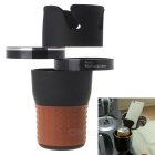 Car Multifunction Water Cup Cell Phone Storage Box - Brown + Black