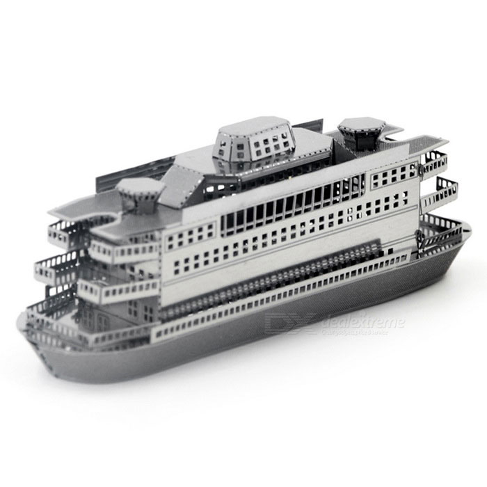 DIY 3D Puzzle 3D Assembled Ferry Model Educational Toy - Silver