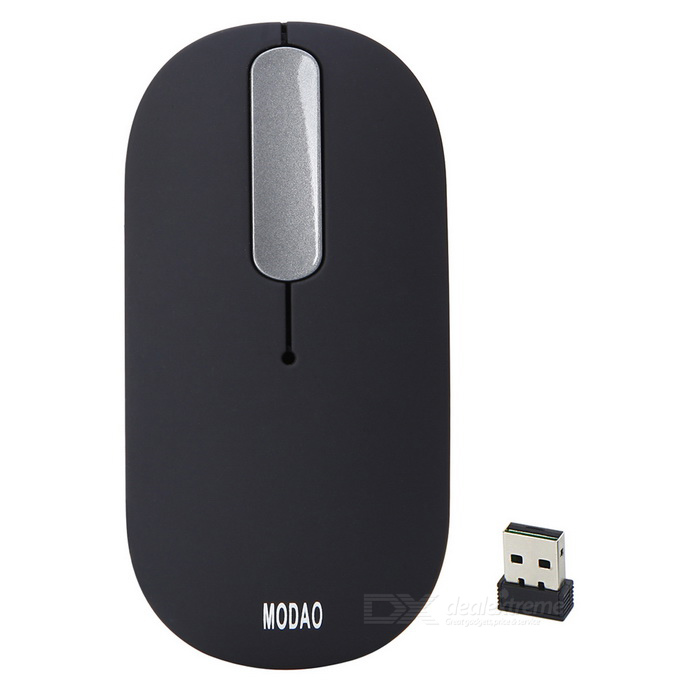 MODAO E20 Touch Sensitive Scroll Wheel 2.4GHz Wireless Mouse - Black