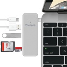 OURSPOP pockethub 5-en-1 dual-display USB C hub w / HDMI