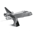 DIY 3D Puzzle 3D Assemble Space Shuttle Simulation Model Toy - Silver