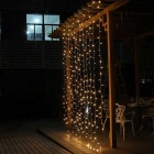 Decorativo 9.8ft * 9.8ft 300-LED blanco cálido ventana cortina luces (110V)