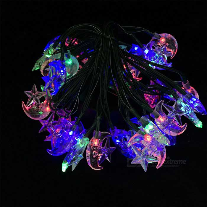 Joyshine Solar 40-LED Moon String Light Flash Light  for Christmas