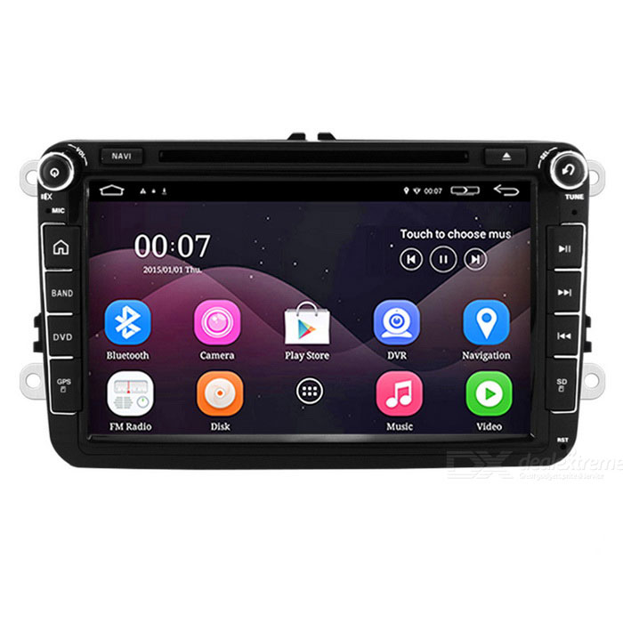 "Funrover 8"" android OEM carro DVD player w / 1024 * 600 GPS para VW passat"