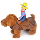 Cute Cowboy Design Pet Dog Clothes Puppy Cosplay Costume (L Size)