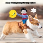 Cute Cowboy Design Pet Dog Dog Puppy Cosplay Costume (L Size)