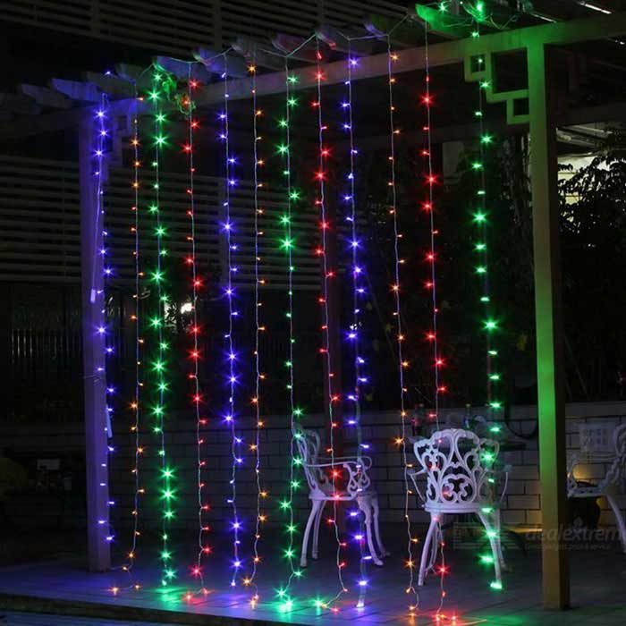 Home Decorative 19.6ft*9.8ft 600-LED RGB Window Curtain Light (110V)