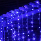 Home Decorative 19.6ft*9.8ft 600 LEDs Blue Window Curtain Light (110V)