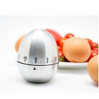 Egg Style Stainless Steel Kitchen Use Reminder Timer - Silver