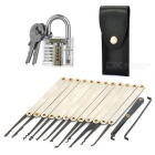 Mini Locksmith Tool Set w/ Transparent Padlock + Keys + Lock Picks