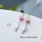 ROCK M1 Magnetic Cable Clip - Pink
