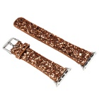 Glitter Flashing Style Leather Watchband for APPLE WATCH 38mm - Golden