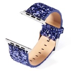 Glitter Flashing Style Leather Watchband for APPLE WATCH 38mm - Blue